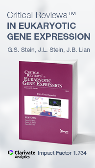 Critical Reviews™ in Eukaryotic Gene Expression