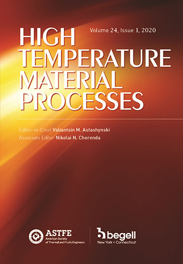 High Temperature Material Processes: An International Quarterly of High-Technology Plasma Processes